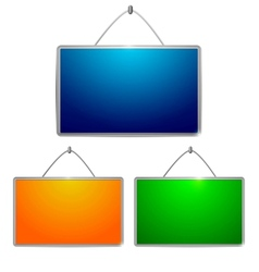 Colored tables vector image