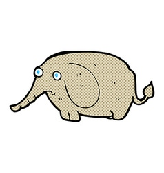 comic cartoon sad little elephant vector image vector image