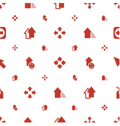 Cursor icons pattern seamless white background vector