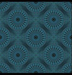 Cyan abstract bohemian flower mandala pattern vector