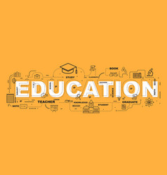 Education word with icons design vector
