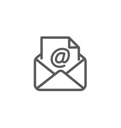 email icon on white background vector image
