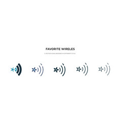 favorite wireles conecction icon in different vector image