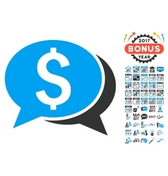 Financial Chat Icon With 2017 Year Bonus Symbols vector