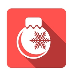 Flat colored simple Christmas elements vector image