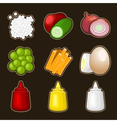 Food products icon set vector