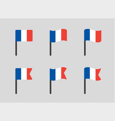 France flag icons set french flag symbol vector