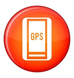 Global Positioning System icon flat style vector