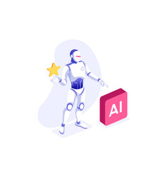images robot at office vector image
