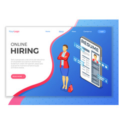 isometric employment and hiring concept vector image