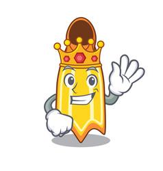 King swim fin mascot cartoon vector
