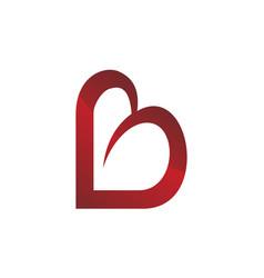 Love letter b vector