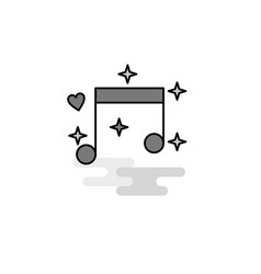 love music web icon flat line filled gray icon vector image