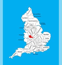 Map west midlands county in west midlands uk vector