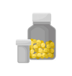 medicine bottles pharmaceutic containers for vector image