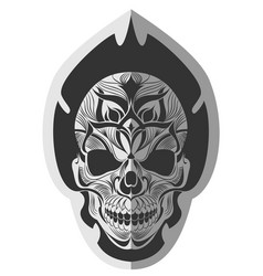 Memorable skull design art vector