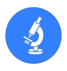 Microscope icon black Single medicine icon from vector image