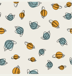 mid century seamless cirlce pattern vector image