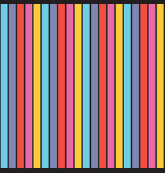 modern colorful and retro vertical striped pattern vector image
