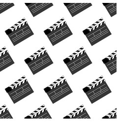Movie clap pattern vector
