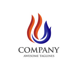 Oil gas and energy logo vector