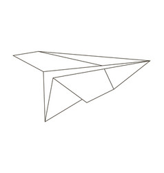 paper plane is simple in execution vector image