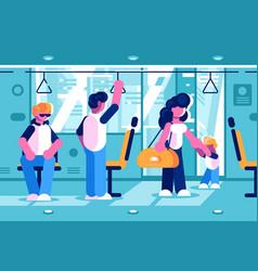 Passengers inside bus vector