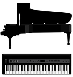 Piano and synthesizer vector image