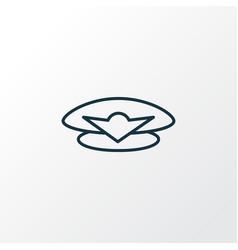 pilot cap icon line symbol premium quality vector image