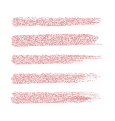 Pink peach brush strokes and spots on white vector