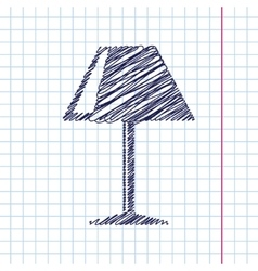 Reading-lamp icon eps10 vector