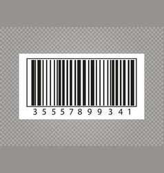 realistic bar code vector image