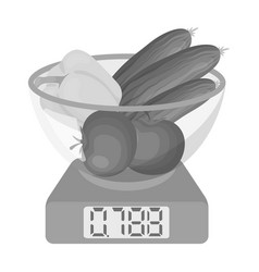 Scales single icon in monochrome stylescales vector
