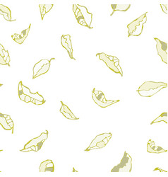 Seamless pattern with foliage and plants vector