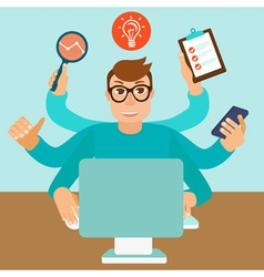 self employed man vector image