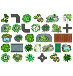 Set plant for decoration vector