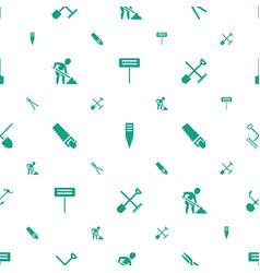 shovel icons pattern seamless white background vector image