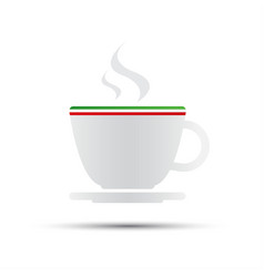 simple coffee icon with italian flag vector image