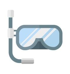Snorkeling diver mask vector image
