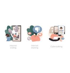 social media aggressive behavior abstract concept vector image
