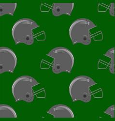 Sport football helmet seamless pattern vector