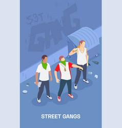 Street gang isometric vector