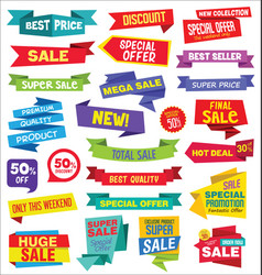 super sale discount labels tags and stickers vector image