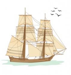 Tall ship vector