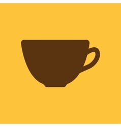 The cup icon Tea symbol Flat vector