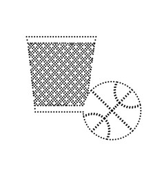 trash sign black dotted icon vector image