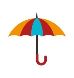 Umbrella open striped vector