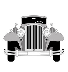 vintage car lining draw vector image