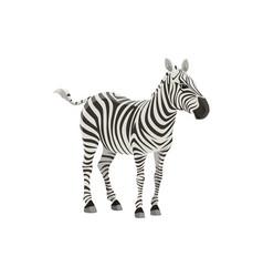 Zebra african safari zoo and hunt wild animal vector