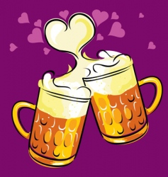 beer love vector image